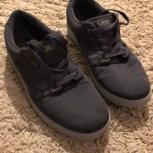 Boys size 4.5 gray Vans shoes